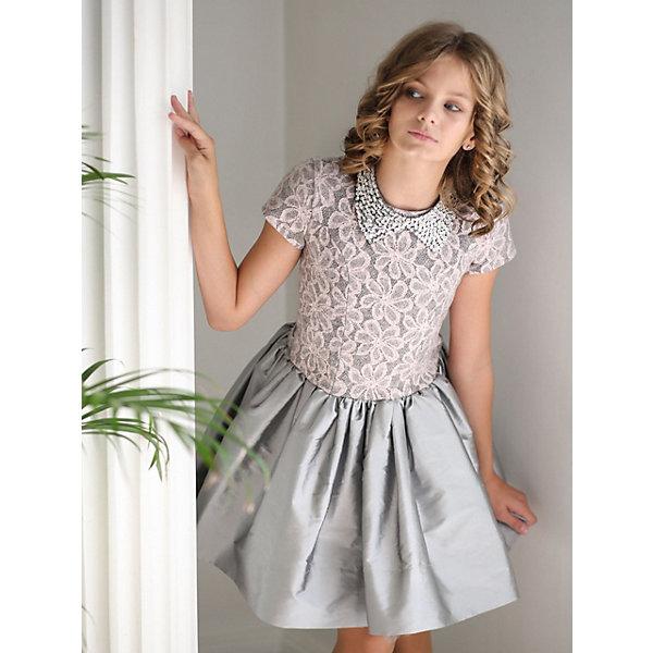 Платье нарядное Unona Dart для девочкиОдежда<br>Характеристики товара:<br><br>• цвет: розовый;<br>• состав: 100% полиэстер;<br>• подкладка: 65% полиэстер, 35% хлопок;<br>• сезон: круглый год;<br>• особенности: нарядное, на подкладке;<br>• застежка: молния;<br>• поясок-лента;<br>• с коротким рукавом;<br>• страна бренда: Россия;<br>• страна изготовитель: Россия.<br><br>Нарядное платье с коротким рукавом для девочки. Оригинальное коктейльное платье длиной до колена с необычным сочетанием фактур. Лиф слегка удлинен, выполнен из мягкой ткани с имитацией вышивки. Юбка пышная из легкой тафты. Воротник, расшитый пайетками и бисером, ручной работы - съемный, завязывается сзади на ленты. Платье на спинке имеет пояски из лент в тон платья для лучшего прилегания.<br><br>Нарядное платье Unona Dart (Юнона де Арт) можно купить в нашем интернет-магазине.<br>Ширина мм: 236; Глубина мм: 16; Высота мм: 184; Вес г: 177; Цвет: розовый; Возраст от месяцев: 144; Возраст до месяцев: 156; Пол: Женский; Возраст: Детский; Размер: 158,140,152,146; SKU: 7309272;