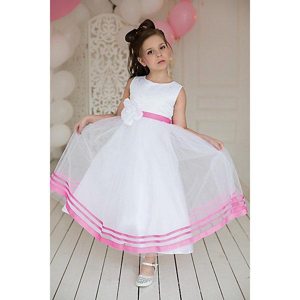 Платье нарядное Barbie™ для девочкиОдежда<br>Характеристики товара:<br><br>• цвет: розовый;<br>• состав: 100% полиэстер;<br>• подкладка: 65% полиэстер, 35% хлопок;<br>• сезон: круглый год;<br>• особенности: нарядное, на подкладке;<br>• страна бренда: Италия;<br>• страна изготовитель: Китай.<br><br>Нарядное платье для девочки. Нежное воздушное платье, длиной до щиколотки, в стиле Barbie™princess. Шикарная, пышная, наполненная юбка, декорированная широкими репсовыми лентами цвета  Barbie, не оставит равнодушной ни одну девочку.            <br>Изысканная маленькая аппликация Barbie из мелких страз высокого качества на поясе .<br><br>Нарядное платье Barbie (Барби) можно купить в нашем интернет-магазине.<br><br>Ширина мм: 236<br>Глубина мм: 16<br>Высота мм: 184<br>Вес г: 177<br>Цвет: розовый<br>Возраст от месяцев: 24<br>Возраст до месяцев: 36<br>Пол: Женский<br>Возраст: Детский<br>Размер: 98,128,122,116,110,104<br>SKU: 7309341