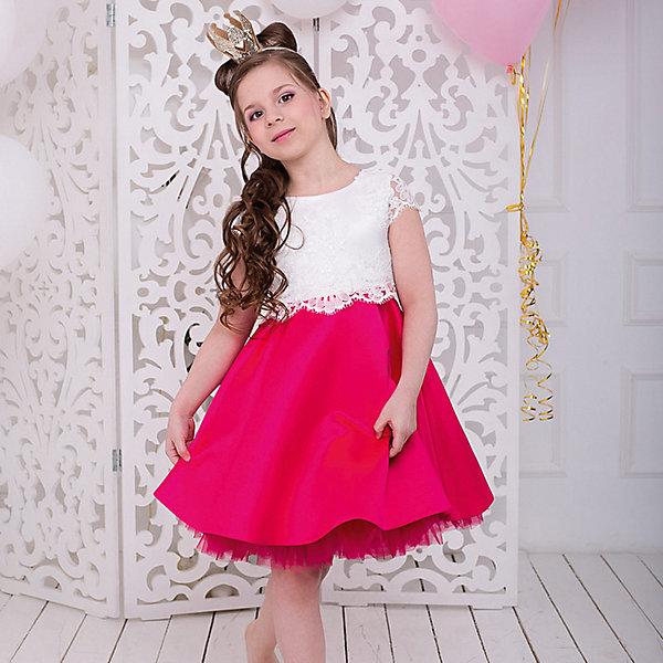 Платье нарядное Barbie™ для девочкиОдежда<br>Характеристики товара:<br><br>• цвет: розовый;<br>• состав: 100% полиэстер;<br>• подкладка: 65% полиэстер, 35% хлопок;<br>• сезон: круглый год;<br>• особенности: нарядное, на подкладке;<br>• страна бренда: США;<br>• страна бренда: Россия;<br><br>Нарядное платье для девочки. Яркое, стильное коктейльное платье длиной до колена. Гладкая юбка поддерживается пышной пачкой из сетки, совсем как у Barbie™ballerina! Рукава и отделка пояса выполнены из французского широкого кружева.<br>Крупная аппликация Barbie из страз высокого качества на юбке.  <br><br>Нарядное платье Barbie (Барби) можно купить в нашем интернет-магазине.<br>Ширина мм: 236; Глубина мм: 16; Высота мм: 184; Вес г: 177; Цвет: розовый; Возраст от месяцев: 60; Возраст до месяцев: 72; Пол: Женский; Возраст: Детский; Размер: 116,98,128,122,110,104; SKU: 7309348;