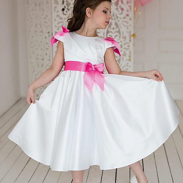 Платье нарядное Barbie™ для девочкиОдежда<br>Характеристики товара:<br><br>• цвет: розовый;<br>• состав: 100% полиэстер;<br>• подкладка: 65% полиэстер, 35% хлопок;<br>• сезон: круглый год;<br>• особенности: нарядное, на подкладке;<br>• страна бренда: США;<br>• страна бренда: Россия;<br><br>Нарядное платье для девочки. Романтичное платье из благородного сатина.  Драпировка на лифе, пышная широкая юбка, декор в виде бантов -  это платье, словно вкусное пирожное безе, придется по вкусу любой девочке.  <br><br>Нарядное платье Barbie (Барби) можно купить в нашем интернет-магазине.<br>Ширина мм: 236; Глубина мм: 16; Высота мм: 184; Вес г: 177; Цвет: розовый; Возраст от месяцев: 48; Возраст до месяцев: 60; Пол: Женский; Возраст: Детский; Размер: 110,116,104,98,128,122; SKU: 7309369;