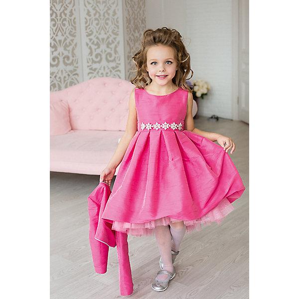 Платье нарядное Barbie™ для девочкиОдежда<br>Характеристики товара:<br><br>• цвет: розовый;<br>• состав: 100% полиэстер;<br>• подкладка: 65% полиэстер, 35% хлопок;<br>• сезон: круглый год;<br>• особенности: нарядное, на подкладке;<br>• страна бренда: США;<br>• страна бренда: Россия;<br><br>Нарядное платье для девочки. Стильное, лаконичное платье для вечеринок в стиле Barbie™. Платье выполнено из ткани, имитирующей натуральный шелк. Юбка пышная, в крупную складку, сзади немного удлиненная. Богатый декор на талии в виде цветов из кристаллов. Крупная аппликация Barbie из страз высокого качества на юбке.<br><br>Нарядное платье Barbie (Барби) можно купить в нашем интернет-магазине.<br>Ширина мм: 236; Глубина мм: 16; Высота мм: 184; Вес г: 177; Цвет: розовый; Возраст от месяцев: 24; Возраст до месяцев: 36; Пол: Женский; Возраст: Детский; Размер: 98,128,122,116,110,104; SKU: 7309390;