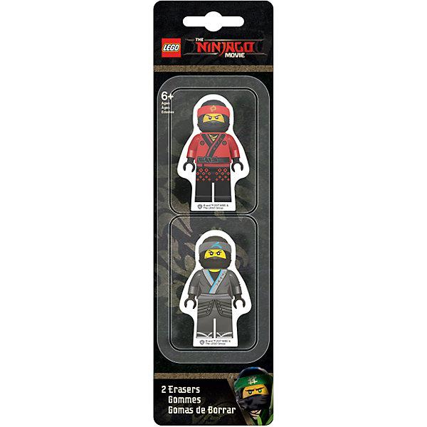 Набор ластиков (2 шт.) LEGO Ninjago Movie (Лего Фильм: Ниндзяго)- Kai/JayЛастики и точилки для первоклассников<br>Характеристики:<br><br>• ластики для школы и творчества;<br>• используются для стирания графитовых рисунков и надписей;<br>• не оставляют разводов;<br>• не царапают поверхность;<br>• выполнены в виде минифигурок Lego;<br>• серия: Ninjago Movie;<br>• персонажи: Kai/Jay;<br>• количество в наборе: 2 шт.;<br>• размер упаковки: 24,7х7х1,5 см;<br>• вес: 131 г.<br><br>Набор ластиков представлен в виде фигурок Лего Ниндзяго. Ластики крупные, цветные, хорошо стирают чернографитный карандаш. В комплекте Lego идут сразу 2 ластика Kai/Jay. <br><br>Набор ластиков (2 шт.) LEGO Ninjago Movie (Лего Фильм: Ниндзяго)- Kai/Jay можно купить в нашем интернет-магазине.<br>Ширина мм: 70; Глубина мм: 15; Высота мм: 247; Вес г: 131; Возраст от месяцев: 72; Возраст до месяцев: 2147483647; Пол: Мужской; Возраст: Детский; SKU: 7310766;