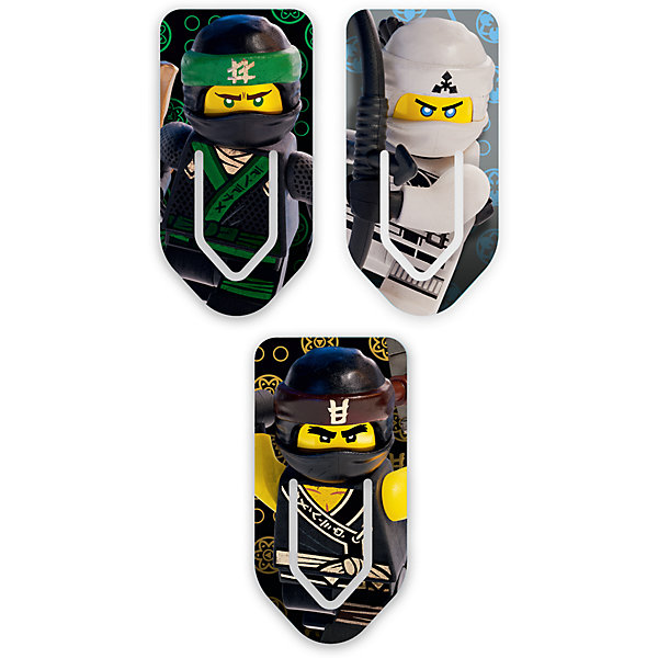 Набор закладок для книг (3 шт.) с лентикулярным изображением в формате 3D LEGO Ninjago MovieЗакладки<br>Характеристики:<br><br>• тип изображения: лентикулярное;<br>• изображение в формате 3D;<br>• серия: Ninjago Movie;<br>• персонажи: Lloyd/Cole/Zane;<br>• количество в наборе: 3 шт.;<br>• размер упаковки: 24,7х7х0,4 см;<br>• вес: 22 г.<br><br>Закладки для книг используются школьниками и любителями чтения, чтобы в любой момент открыть книгу в том месте, где было окончено чтение в предыдущий раз. Закладки для книг оформлены в стиле Лего, на закладках представлены изображения героев из фильма Ниндзяго.<br><br>Набор закладок для книг (3 шт.) с лентикулярным изображением в формате 3D LEGO Ninjago Movie можно купить в нашем интернет-магазине.<br>Ширина мм: 70; Глубина мм: 4; Высота мм: 247; Вес г: 22; Возраст от месяцев: 72; Возраст до месяцев: 2147483647; Пол: Мужской; Возраст: Детский; SKU: 7310768;