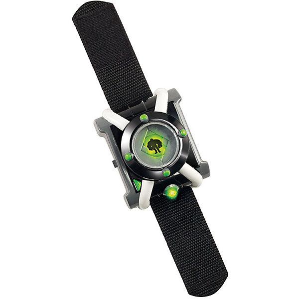 Наручные часы Playmates Ben 10, ОмнитриксДетские гаджеты<br>Характеристики:<br><br>• возраст: от 4 лет<br>• комплектация: часы, инструкция<br>• материал: пластик<br>• батарейки: 3 типа AG13/LR44<br>• наличие батареек: входят в комплект<br>• упаковка: блистер на картоне<br>• размер упаковки: 31х20х18 см.<br><br>Наручные часы Омнитрикс (делюкс) выполнены по мотивам популярного мультсериала «Ben 10». Они имеют полное сходство с часами, которые на экране превращали главного героя Бена в разных пришельцев. Игрушка прекрасно детализирована, имеет светящийся циферблат и удобный браслет.<br><br>Часы оснащены световыми и звуковыми эффектами: вращая кольцо на циферблате, дети смогут выбрать изображение логотипа пришельца, а нажав на него, услышать мелодию из мультфильма. У игрушки имеется сенсор движения, благодаря чему в зависимости от положения часов, включается тот или иной тип мерцающих лампочек.<br><br>С часами Омнитрикс (делюкс) дети смогут разыгрывать любимые сцены из мультика или, проявив фантазию, придумывать собственные сюжеты.<br><br>Игрушка имеет сертификат соответствия и выполнена из ударопрочного пластика высокого качества.<br><br>Ben-10 Часы Омнитрикс (делюкс) можно купить в нашем интернет-магазине.<br>Ширина мм: 190; Глубина мм: 75; Высота мм: 300; Вес г: 363; Возраст от месяцев: 36; Возраст до месяцев: 60; Пол: Мужской; Возраст: Детский; SKU: 7312294;