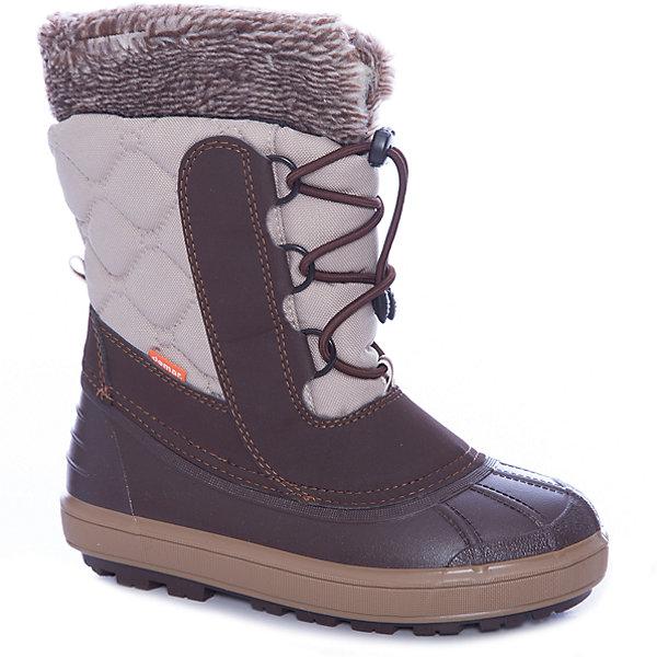 Сноубутсы Demar для девочкиСноубутсы<br>Сноубутсы Demar для девочки<br>Зимняя модель. Сапожки имеют утеплитель внутренней части изготовлен на основе натуральной овечьей шерсти, помогает выдерживать морозы до - 20 ° C. Зимние сапожки Demar очень легкие, вес до 400 гр.<br>Верх обуви - не продуваемый текстильный материал, имеющий высокие износостойкие и водоотталкивающие свойства. Термокаучук, используется при изготовлении подошвы способствует сохранению эластичности даже при низких температурах и позволяет избежать скольжения. Сапожки легко одеваются. Выполнены из супер легких материалов, вес их на столько легкий, что ребенок даже не заметит, что он уже обут)))<br>Утепленные натуральной овечьей шерстью - гарантия теплых ножек!<br>Сделаны в Польше!<br>Рекомендуем для зимних прогулок и игр.<br>Сертифицированы, гарантия качества. <br>Состав:<br>Материал верха: текстильный материал. Материал подкладки: натуральная шерсть.  Материал подошвы: ТЭП<br><br>Ширина мм: 257<br>Глубина мм: 180<br>Высота мм: 130<br>Вес г: 420<br>Цвет: бежевый<br>Возраст от месяцев: 108<br>Возраст до месяцев: 120<br>Пол: Женский<br>Возраст: Детский<br>Размер: 32/33,34/35<br>SKU: 7313303