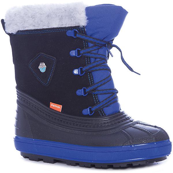 Сноубутсы Demar для мальчикаСноубутсы<br>Сноубутсы Demar для мальчика<br>Зимняя модель. Сапожки имеют утеплитель внутренней части изготовлен на основе натуральной овечьей шерсти, помогает выдерживать морозы до - 20 ° C. <br>Верх обуви - не продуваемый текстильный материал, имеющий высокие износостойкие и водоотталкивающие свойства. Термокаучук, используется при изготовлении подошвы способствует сохранению эластичности даже при низких температурах и позволяет избежать скольжения. Сапожки легко одеваются, ребенок даже не заметит, что он уже обут)))<br>Утепленные натуральной овечьей шерстью - гарантия теплых ножек!<br>Сделаны в Польше!<br>Рекомендуем для зимних прогулок и игр.<br>Сертифицированы, гарантия качества. <br>Состав:<br>Материал верха: текстильный материал. Материал подкладки: натуральная шерсть.  Материал подошвы: ТЭП<br><br>Ширина мм: 257<br>Глубина мм: 180<br>Высота мм: 130<br>Вес г: 420<br>Цвет: синий<br>Возраст от месяцев: 132<br>Возраст до месяцев: 144<br>Пол: Мужской<br>Возраст: Детский<br>Размер: 34/35,32/33<br>SKU: 7313306