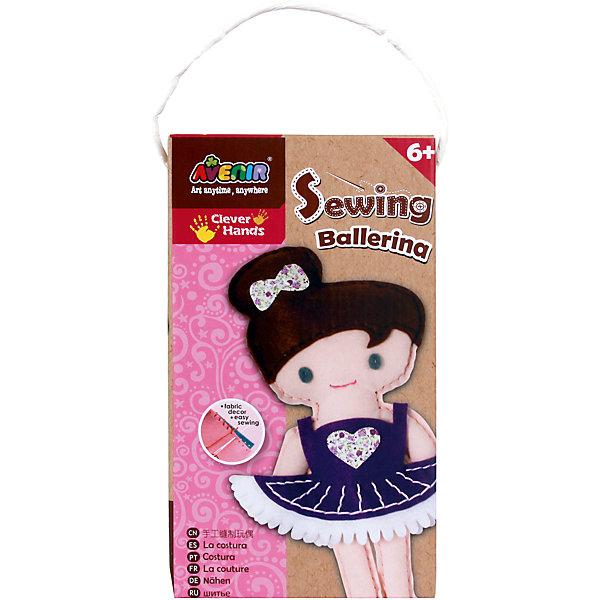 Набор для шитья БалеринаШитьё<br>Характеристики товара:<br><br>• возраст: от 3 лет;<br>• пол: девочка;<br>В комплекте:<br>• заготовки из ткани;<br>• заготовки из войлока; <br>• материал для набивки игрушки;<br>• пластиковая игла;<br>• пряжа;<br>• из чего сделана игрушка (состав): текстиль, пластик; <br>• вес: 0,13 кг.;<br>• размер упаковки: 23х13х5 см.;<br>• упаковка: картонная коробка.<br><br>Набор для творчества, позволяющий ребенку самостоятельно своими руками сшить забавную мягкую игрушку. <br><br>В наборе уже есть все необходимое: вырезанные заготовки из ткани с отверстиями для швов, нитки, материал для набивки, безопасная пластиковая игла и подробная иллюстрированная инструкция.<br><br>Набор для шитья «Балерина» можно купить в нашем интернет-магазине.<br>Ширина мм: 230; Глубина мм: 130; Высота мм: 50; Вес г: 130; Возраст от месяцев: -2147483648; Возраст до месяцев: 2147483647; Пол: Женский; Возраст: Детский; SKU: 7313461;
