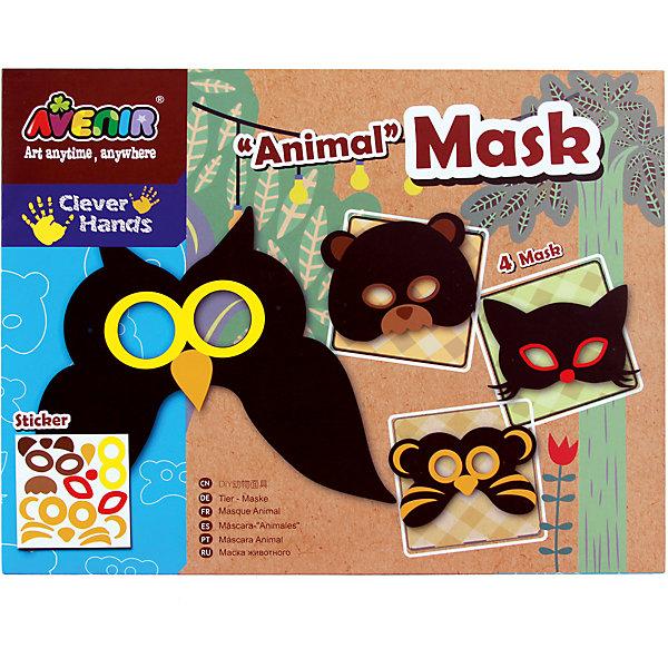 Набор для декорирования масок ЖивотныеНаборы стилиста и дизайнера<br>Характеристики товара:<br><br>• возраст: от 3 лет;<br>• пол: мальчик, девочка;<br>В комплекте:<br>• 4 маски;<br>• 1 лист с наклейками; <br>• 4 эластичные резинки;<br>• двухсторонний скотч;<br>• из чего сделана игрушка (состав): картон, текстиль, бумага; <br>• вес: 0,11 кг.;<br>• размер упаковки: 31,5х24х0,2 см.;<br>• упаковка: картонный конверт.<br><br>Набор для декорирования масок позволит ребенку, проявив  творческое мышление и фантазию, превратить с помощью декоративных элементов черные силуэты в яркие маски совы, кошки, мишки и тигра. Набор помогает развивать воображение, творческое мышление и мелкую моторику.<br><br>Набор для декорирования масок  «Животные» можно купить в нашем интернет-магазине.<br>Ширина мм: 315; Глубина мм: 240; Высота мм: 2; Вес г: 110; Возраст от месяцев: 36; Возраст до месяцев: 2147483647; Пол: Унисекс; Возраст: Детский; SKU: 7313471;