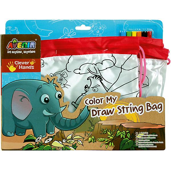 Набор Раскрась свою сумку. ДжунглиНаборы для раскрашивания<br>Характеристики товара:<br><br>• возраст: от 3 лет;<br>• пол: мальчик, девочка;<br>В комплекте:<br>• 2 сумки разных размеров;<br>• 6 цветных маркеров;<br>• из чего сделана игрушка (состав): текстиль, пластик, фибра; <br>• вес: 0,21 кг.;<br>• размер упаковки: 33х26х3,5 см.;<br>• размер большой сумки: 42х33 см.;<br>• размер маленькой сумки: 26х22 см.;<br>• упаковка: картонная коробка.<br><br><br>Стильная сумка, раскрашенная в яркие цвета, понравится любому ребенку. Стоит только проявить фантазию и осуществить задуманное с помощью специальных маркеров, и перед Вами стильный и неповторимый аксессуар.<br><br>В наборе целых 2 сумки разных размеров. Большая 42Х33 см. и маленькая 26Х22 см. На лицевой стороне сумок есть четко нанесенный контур рисунков на тему Джунгли. Рисунки нанесенные на сумки раскрашиваются яркими, разноцветными маркерами. Их в наборе 6 шт. <br><br>В этой серии есть также рюкзачок и пенал. Все это можно объединить в яркий и оригинальный комплект.<br><br>Набор «Раскрась свою сумку. Джунгли» можно купить в нашем интернет-магазине.<br>Ширина мм: 330; Глубина мм: 260; Высота мм: 35; Вес г: 210; Возраст от месяцев: 36; Возраст до месяцев: 2147483647; Пол: Женский; Возраст: Детский; SKU: 7313481;