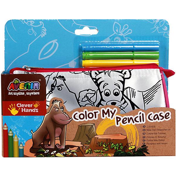 Набор Раскрась свой пенал. ДжунглиНаборы для раскрашивания<br>Характеристики товара:<br><br>• возраст: от 3 лет;<br>• пол: мальчик, девочка;<br>В комплекте:<br>• пенал;<br>• 6 цветных маркеров;<br>• из чего сделана игрушка (состав): текстиль, пластик; <br>• вес: 0,14 кг.;<br>• размер упаковки: 23х14х5 см.;<br>• упаковка: картонная коробка открытого типа.<br><br>Стильный пенал, раскрашенный в яркие цвета, понравится любому ребенку. Стоит только проявить фантазию и осуществить задуманное с помощью специальных маркеров, и перед Вами стильный и неповторимый аксессуар. На лицевой стороне пенала есть четко нанесенный контур рисунков на тему Джунгли. Рисунки нанесенные на пенал раскрашиваются яркими, разноцветными маркерами. <br><br>В этой серии есть также рюкзачок и сумка для сменной обуви. Все это можно объединить в яркий и оригинальный комплект.<br><br>Набор «Раскрась свой пенал. Джунгли» можно купить в нашем интернет-магазине.<br>Ширина мм: 230; Глубина мм: 140; Высота мм: 50; Вес г: 140; Возраст от месяцев: 36; Возраст до месяцев: 2147483647; Пол: Унисекс; Возраст: Детский; SKU: 7313482;