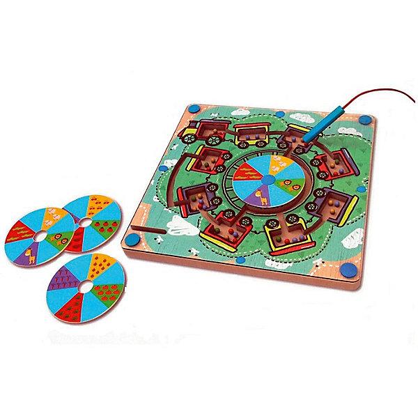Развивающая игра Деревянный лабиринт с магнитными шарикамиГоловоломки - игры<br>Характеристики товара:<br><br>• возраст: от 3 лет;<br>• пол: мальчик, девочка;<br>В комплекте:<br>• деревянное игровое поле;<br>• металлические шарики 4 цветов;<br>• 3 диска с изображением зверушек, фруктов и овощей;<br>• ручка с магнитом;<br>• из чего сделана игрушка (состав): дерево, металл, картон; <br>• вес: 1,04 кг.;<br>• размер упаковки: 28х30х5 см.;<br>• упаковка: картонная коробка.<br><br>Развивающая игра Деревянный лабиринт с магнитными шариками обязательно понравится маленьким любителям головоломок и нестандартных игр.<br><br>В комплект входит несколько шариков для прохождения лабиринта, деревянные диски для смены декораций и ручка с магнитом для управления металлическими шариками. <br><br>Такая интересная игра развивает интеллектуальные способности ребенка, координацию, наблюдательность, способствует запоминанию цветов цифр.<br><br>Развивающая игра «Деревянный лабиринт с магнитными шариками» можно купить в нашем интернет-магазине.<br>Ширина мм: 280; Глубина мм: 300; Высота мм: 50; Вес г: 1040; Возраст от месяцев: 36; Возраст до месяцев: 2147483647; Пол: Унисекс; Возраст: Детский; SKU: 7313484;