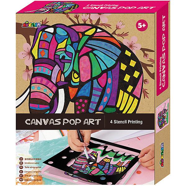 Большой набор для шелкографии СлонНаборы для росписи<br>Характеристики товара:<br><br>• возраст: от 3 лет;<br>• пол: мальчик, девочка;<br>В комплекте:<br>• 1 холст;<br>• 4 бумажных трафарета; <br>• 6 тюбиков с краской;<br>• 1 кисточка;<br>• из чего сделана игрушка (состав): текстиль, бумага, краситель; <br>• вес: 0,26 кг.;<br>• размер упаковки: 21х27х4 см.;<br>• упаковка: картонная коробка.<br><br>Набор для росписи по холсту Шелкография: Слон обязательно понравится творческим детишкам. <br><br>В набор входят 6 тюбиков с краской и несколько трафаретов, из которых ребенок сможет выбрать макет для творчества, а так же холст и кисточка для украшения подготовленного рисунка. <br><br>Набор развивает художественное мышление, творческие способности, воображение.<br><br>Большой набор для шелкографии «Слон» можно купить в нашем интернет-магазине.<br><br>Ширина мм: 210<br>Глубина мм: 270<br>Высота мм: 40<br>Вес г: 260<br>Возраст от месяцев: 36<br>Возраст до месяцев: 2147483647<br>Пол: Женский<br>Возраст: Детский<br>SKU: 7313487