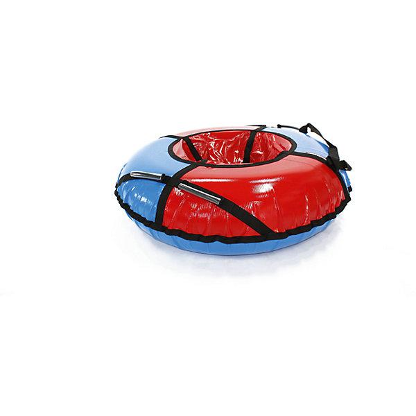 Тюбинг Hubster Sport Plus красно-синий, 105 смТюбинги<br>Характеристики:<br><br>• особенности: тюбинг с 4 ручками;<br>• ручки пришиты к стропам;<br>• глянцевое дно ватрушки;<br>• идеальное скольжение;<br>• чехол на застежке-молнии;<br>• диаметр: 102-107 см;<br>• максимальная нагрузка: до 120 кг;<br>• материал: низ ПВХ 650 гр/мм, верх ткань Оксфорт 600D:<br>• в комплекте: камера R15, трос;<br>• размер упаковки: 100х15х15 см;<br>• вес: 2,5 кг;<br>• гарантия 6 месяцев.<br><br>Впереди пора зимних забав и игр на свежем воздухе. Спуск с заснеженной ледяной горы становится веселым и озорным на тюбинге Hubster Sport Plus. Тюбинг при спуске смягчает удары на кочках. Снег не прилипает к глянцевому дну тюбинга, высококачественная ПВХ ткань обладает водонепроницаемыми свойствами, не намокает, снижает возможность выскальзывания из тюбинга при катании. Все швы прошиты прочными нитками, которые не подвержены воздействию влаги. <br><br>Тюбинг Hubster Sport Plus красный/синий (105см) можно купить в нашем интернет-магазине.<br><br>Ширина мм: 1000<br>Глубина мм: 150<br>Высота мм: 150<br>Вес г: 2500<br>Возраст от месяцев: 60<br>Возраст до месяцев: 2147483647<br>Пол: Унисекс<br>Возраст: Детский<br>SKU: 7313933