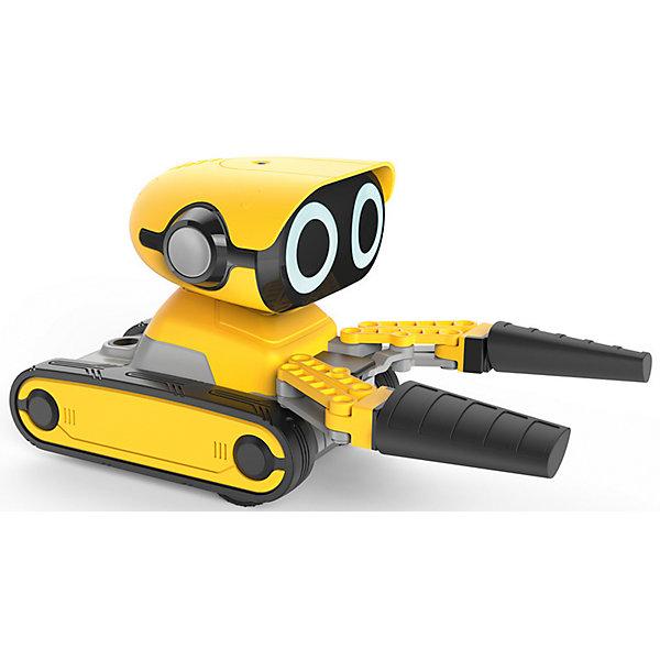 Радиоуправляемый робот Wowwee ГриппРоботы<br>Характеристики товара:<br><br>• в комплекте: робот, пульт управления, прицеп, кирпичики, инструкция;<br>• возраст: от 6 лет;<br>• батарейки: ААА- 2 шт., АА - 4 шт. (не входят в комплект);<br>• материал: пластик;<br>• размер упаковки: 26х22х38 см;<br>• страна: Китай.<br><br>Робот Грип поможет юному строителю поднять и перевезти ценные грузы на строительной площадке. Робот издает 50 забавных фраз и звуков, поднимает кирпичики, а его светодиодные глаза светятся во время работы. Игрушка быстро ездит по плоской поверхности, управляется с помощью пульта управления. Оригинальных футуристический дизайн придется по вкусу каждому любителю необычных роботов. Для работы необходимы 4 батарейки АА и 2 батарейки ААА (не входят в комплект).<br><br>Робота «Грип», WowWee (ВовВи) можно купить в нашем интернет-магазине.<br>Ширина мм: 380; Глубина мм: 220; Высота мм: 260; Вес г: 1200; Возраст от месяцев: 48; Возраст до месяцев: 2147483647; Пол: Унисекс; Возраст: Детский; SKU: 7314001;