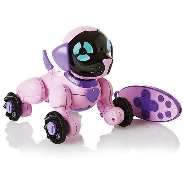 Интерактивная игрушка Wowwee Собачка Чиппи, розоваяИнтерактивные животные<br>Характеристики товара:<br><br>• в комплекте: робот, пульт управления, инструкция;<br>• возраст: от 4 лет;<br>• батарейки: ААА - 7 шт. (не входят в комплект);<br>• материал: пластик;<br>• цвет: розовый;<br>• размер робота: 15,5х12,5х16 см;<br>• страна: Китай.<br><br>Забавная собака Чиппи - отличная альтернатива настоящему щенку. Собака умеет чихать, играть, нюхать, лаять, выть, скулить и даже целоваться. Игрушкой можно управлять при помощи пульта управления: Чиппи сможет петь, танцевать, кататься и бегать за хвостиком. Встроенные датчики позволяют Чиппи осматривать комнату и охранять дом. Собака-робот Чиппи совместима с собакой CHIP.<br><br>Собачку «Чиппи» розовую, WowWee (ВовВи) можно купить в нашем интернет-магазине.<br><br>Ширина мм: 200<br>Глубина мм: 200<br>Высота мм: 200<br>Вес г: 450<br>Возраст от месяцев: 60<br>Возраст до месяцев: 2147483647<br>Пол: Унисекс<br>Возраст: Детский<br>SKU: 7314002