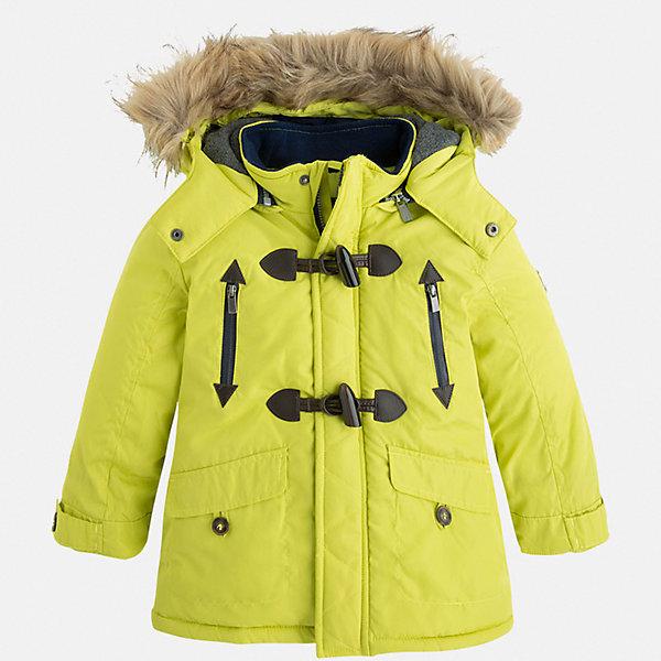 Куртка для мальчика MayoralВерхняя одежда<br>Характеристики товара:<br><br>• цвет: лимонный;<br>• внешний материал: полиэстер;;<br>• утеплитель: полиэстер;<br>• сезон: демисезон;<br>• температурный режим: от -5 до +10;<br>• искусственный мех на капюшоне;<br>• капюшон отстегивается;<br>• страна бренда: Испания.<br><br>Куртка демисезонная для мальчика Майорал подойдет для сырой и ветренной погоды. Глубокий капюшон с мехом защитит лицо от ветра. <br><br>Испанский бренд Майорал - это модная и качественная одежда для детей.<br><br>Куртку для мальчика Майорал можно приобрести в нашем интернет-магазине.<br><br>Ширина мм: 190<br>Глубина мм: 74<br>Высота мм: 229<br>Вес г: 236<br>Цвет: желтый<br>Возраст от месяцев: 24<br>Возраст до месяцев: 36<br>Пол: Мужской<br>Возраст: Детский<br>Размер: 98<br>SKU: 7314217
