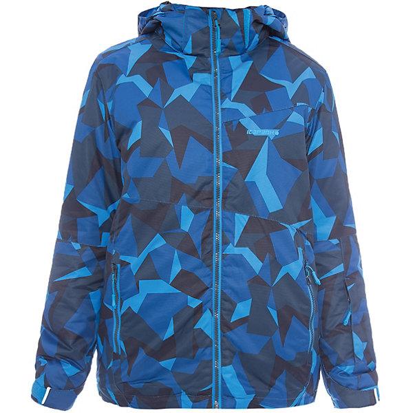 Куртка ICEPEAK для мальчикаВерхняя одежда<br>Характеристики товара: <br><br>• цвет: синий; <br>• пол: мужской; <br>• состав: 100% полиэстер, полиуретановое покрытие; <br>• подкладка: 100% полиэстер; <br>• утеплитель: 140 г/м2; <br>• сезон: зима; <br>• температурный режим: от 0 до -25С; <br>• застежка: молния с дополнительной защитной планкой; <br>• водоотталкивающий, ветронепроницаемый и дышащий материал; <br>• гладкая подкладка из полиэстера; <br>• безопасный съемный капюшон;  <br>• рукав регулируется липучкой;  <br>• теплый карман на флисе и на молнии; <br>• теплый и мягкий флисовый воротник; <br>• снегозащитная юбка со стянутой по краю плоской резиновой тесьмой с нескользящей поверхностью; <br>• светоотражающие детали; <br>• страна бренда: Финляндия; <br>• страна изготовитель: Китай.  <br><br>Зимняя куртка ICEPEAK выполнена из специального высококачественного материала, подойдет как для катания на горных лыжах, так и для любых зимних активностей и прогулок. Не пропускает влагу и ветер. Яркая и стильная.   <br><br>Куртку ICEPEAK для мальчика можно купить в нашем интернет-магазине.<br>Ширина мм: 356; Глубина мм: 10; Высота мм: 245; Вес г: 519; Цвет: синий; Возраст от месяцев: 84; Возраст до месяцев: 96; Пол: Мужской; Возраст: Детский; Размер: 128,176,164,152,140; SKU: 7314692;