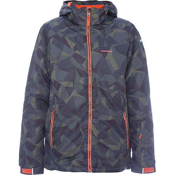 Куртка ICEPEAK для мальчикаВерхняя одежда<br>Характеристики товара:  <br><br>• цвет: хаки; <br>• пол: мужской; <br>• состав: 100% полиэстер, полиуретановое покрытие; <br>• подкладка: 100% полиэстер; <br>• утеплитель: 140 г/м2; <br>• сезон: зима; <br>• температурный режим: от 0 до -25С; <br>• застежка: молния с дополнительной защитной планкой; <br>• водоотталкивающий, ветронепроницаемый и дышащий материал;<br>• гладкая подкладка из полиэстера; <br>• безопасный съемный капюшон;  <br>• рукав регулируется липучкой;  <br>•  теплый карман на флисе и на молнии; <br>• теплый и мягкий флисовый воротник; <br>• снегозащитная юбка со стянутой по краю плоской резиновой тесьмой с нескользящей поверхностью; <br>• светоотражающие детали; <br>• страна бренда: Финляндия; <br>• страна изготовитель: Китай.  <br><br>Зимняя куртка ICEPEAK выполнена из специального высококачественного материала, подойдет как для катания на горных лыжах, так и для любых зимних активностей и прогулок. Не пропускает влагу и ветер. Яркая и стильная.   <br><br>Куртку ICEPEAK для мальчика можно купить в нашем интернет-магазине.<br>Ширина мм: 356; Глубина мм: 10; Высота мм: 245; Вес г: 519; Цвет: хаки; Возраст от месяцев: 84; Возраст до месяцев: 96; Пол: Мужской; Возраст: Детский; Размер: 128,176,164,152,140; SKU: 7314698;