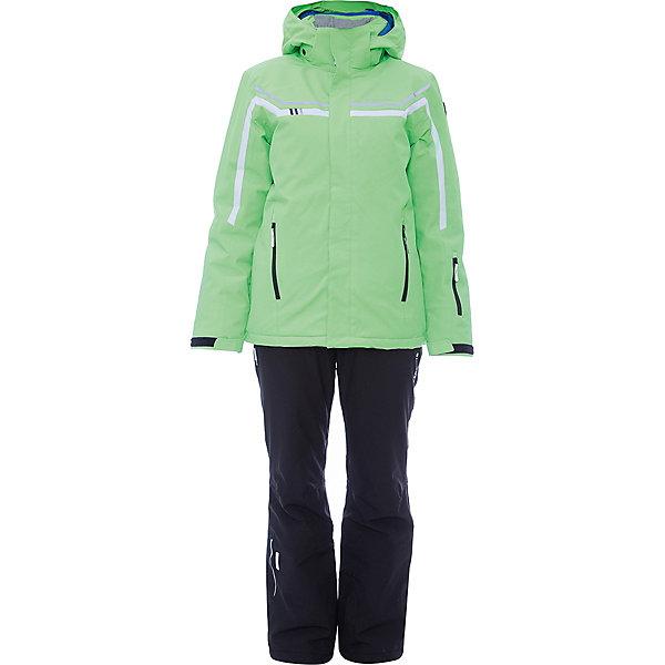 Комплект (куртка+брюки) ICEPEAK для мальчикаВерхняя одежда<br>Характеристики товара:  <br><br>• цвет: зеленый;  <br>• комплектация: куртка и брюки;  <br>• состав ткани: 100% полиэстер; <br>• подкладка: 100% полиэстер; <br>• утеплитель: 100% полиэстер; <br>• сезон: зима; <br>• температурный режим: от 0 до -25С; <br>• страна бренда: Финляндия; <br>• страна изготовитель: Китай. <br><br>Куртка: • плотность утеплителя: тело 160; рукава: 140 г/м2; • застежка: молния с дополнительной защитной планкой; • водоотталкивающий, ветронепроницаемый и дышащий материал; • гладкая подкладка из полиэстера; • безопасный съемный капюшон;  • рукав регулируется липучкой;  • карман на молнии; • снегозащитная юбка со стянутой по краю плоской резиновой тесьмой с нескользящей поверхностью; • светоотражающие детали;  <br><br>Брюки: •  на отстегивающихся лямках,  • завышенная талия на спине для комфорта,  •эластичный пояс, внутренние манжеты с резинкой для защиты от снега,  • сформированное колено,  • светоотражающие элементы,  • плотность утеплителя: 100 гр.  Яркий зимний комплект Icepeak (Финляндия) состоит из куртки и брюк на лямках. <br><br>Удобный теплый комплект для ребенка позволит наслаждаться зимой, не боясь замерзнуть.  <br><br>Комплект (куртка+брюки) ICEPEAK для девочки можно купить в нашем интернет-магазине.<br>Ширина мм: 356; Глубина мм: 10; Высота мм: 245; Вес г: 519; Цвет: светло-зеленый; Возраст от месяцев: 84; Возраст до месяцев: 96; Пол: Мужской; Возраст: Детский; Размер: 128,176,164,152,140; SKU: 7314716;