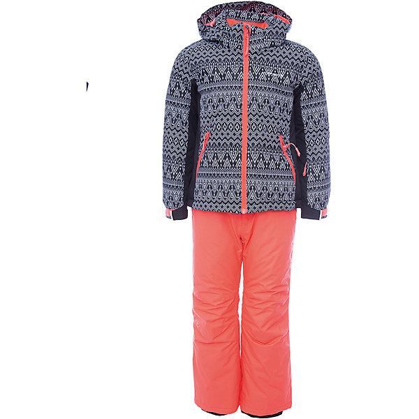 Комплект (куртка+брюки) ICEPEAK для девочкиВерхняя одежда<br>Характеристики товара:  <br><br>• цвет: черный;  <br>• комплектация: куртка и брюки;  <br>• состав ткани: 100% полиэстер; <br>• подкладка: 100% полиэстер; <br>• утеплитель: 100% полиэстер; <br>• сезон: зима; <br>• температурный режим: от 0 до -25С; <br>• страна бренда: Финляндия; <br>• страна изготовитель: Китай.  <br><br>Куртка: • плотность утеплителя: тело 160; рукава: 140 г/м2; • застежка: молния с дополнительной защитной планкой; • водоотталкивающий, ветронепроницаемый и дышащий материал; • гладкая подкладка из полиэстера; • безопасный съемный капюшон;  • рукав регулируется липучкой;  •  теплый карман на флисе и на молнии; • теплый и мягкий флисовый воротник; • снегозащитная юбка со стянутой по краю плоской резиновой тесьмой с нескользящей поверхностью; • светоотражающие детали;  <br><br>Брюки: •  на отстегивающихся лямках,  • завышенная талия на спине для комфорта,  •эластичный пояс, внутренние манжеты с резинкой для защиты от снега,  • сформированное колено,  • светоотражающие элементы,  • плотность утеплителя: 100 гр.  <br><br>Яркий зимний комплект Icepeak (Финляндия) состоит из куртки и брюк на лямках. Удобный теплый комплект для ребенка позволит наслаждаться зимой, не боясь замерзнуть.  <br><br>Комплект (куртка+брюки) ICEPEAK для девочки можно купить в нашем интернет-магазине.<br>Ширина мм: 356; Глубина мм: 10; Высота мм: 245; Вес г: 519; Цвет: черный; Возраст от месяцев: 60; Возраст до месяцев: 72; Пол: Женский; Возраст: Детский; Размер: 116,176,164,152,140,128; SKU: 7314729;