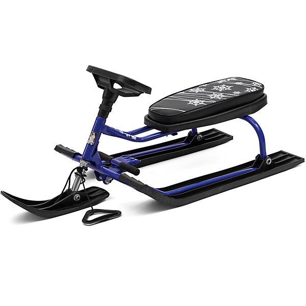 Снегокат Барс 001, черно-синийСнегокаты<br>Характеристики:<br><br>• детский снегокат;<br>• модель: Барс 001;<br>• особенности: с низкой рамой;<br>• передняя лыжа поворачивается с помощью руля;<br>• мягкое сиденье;<br>• отличное управление;<br>• педаль-тормоз;<br>• материал рамы – сталь, сиденье – полиэстер, лыжи – морозоустойчивый пластик;<br>• грузоподъемность: до 100 кг;<br>• размер снегоката: 112,5х48,5х42,5 см;<br>• вес: 6 кг.<br><br>Весело провести время в зимний период поможет детский снегокат Барс 001. Снегокат с низкой рамой удобен малышам старше 3-х лет: ребенок может самостоятельно усаживаться на снегокат. Снегокат выдерживает нагрузку в пределах 100 кг – отличная возможность кататься с горки ребенку вместе с взрослым. Снегокат с рулевым управлением: можно объехать сугробы, деревья и другие препятствия. Педаль-тормоза обеспечивает быстрое торможение и остановку «по требованию».<br><br>Снегокат Барс 001 Черно-синий можно купить в нашем интернет-магазине.<br><br>Ширина мм: 1125<br>Глубина мм: 485<br>Высота мм: 425<br>Вес г: 6000<br>Возраст от месяцев: 36<br>Возраст до месяцев: 96<br>Пол: Унисекс<br>Возраст: Детский<br>SKU: 7314744