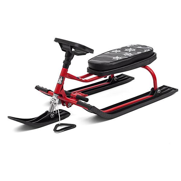 Снегокат Барс 001, черно-красныйСнегокаты<br>Характеристики:<br><br>• детский снегокат;<br>• модель: Барс 001;<br>• особенности: с низкой рамой;<br>• передняя лыжа поворачивается с помощью руля;<br>• мягкое сиденье;<br>• отличное управление;<br>• педаль-тормоз;<br>• материал рамы – сталь, сиденье – полиэстер, лыжи – морозоустойчивый пластик;<br>• грузоподъемность: до 100 кг;<br>• размер снегоката: 112,5х48,5х42,5 см;<br>• вес: 6 кг.<br><br>Весело провести время в зимний период поможет детский снегокат Барс 001. Снегокат с низкой рамой удобен малышам старше 3-х лет: ребенок может самостоятельно усаживаться на снегокат. Снегокат выдерживает нагрузку в пределах 100 кг – отличная возможность кататься с горки ребенку вместе с взрослым. <br><br>Снегокат с рулевым управлением: можно объехать сугробы, деревья и другие препятствия. Педаль-тормоза обеспечивает быстрое торможение и остановку «по требованию».<br><br>Снегокат Барс 001 Черно-красный можно купить в нашем интернет-магазине.<br><br>Ширина мм: 1125<br>Глубина мм: 485<br>Высота мм: 425<br>Вес г: 6000<br>Возраст от месяцев: 36<br>Возраст до месяцев: 96<br>Пол: Унисекс<br>Возраст: Детский<br>SKU: 7314745