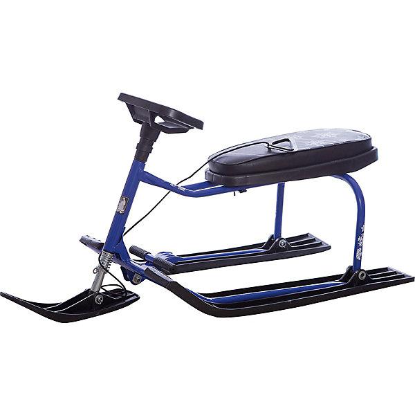 Снегокат Барс 002, черно-синийСнегокаты<br>Характеристики:<br><br>• детский снегокат;<br>• модель: Барс 002;<br>• особенности: с высокой рамой;<br>• широкие лыжи, устойчивость снегоката;<br>• передняя лыжа поворачивается с помощью руля;<br>• мягкое сиденье с чехлом из кожезаменителя;<br>• отличное управление - амортизированный руль, возможность маневра;<br>• тип тормоза: ножной, используется педаль-тормоз;<br>• имеется буксировочный трос;<br>• лакированная рама: защита металлических частей от повреждения;<br>• материал рамы – сталь с лаковым покрытием; чехол – кожзам, лыжи – морозоустойчивый пластик;<br>• грузоподъемность: до 100 кг;<br>• размер снегоката: 112,5х48,5х52,5 см;<br>• вес: 6,5 кг.<br><br>Весело провести время в зимний период поможет детский снегокат Барс 002. Снегокат с высокой рамой удобен малышам старше 3-х лет: ребенок усаживается на снегокат, ножки ставит на полозья. Снегокат выдерживает нагрузку в пределах 100 кг – отличная возможность кататься с горки ребенку вместе с взрослым. <br><br>Снегокат с рулевым управлением: можно объехать сугробы, деревья и другие препятствия. Ножной тормоз предусматривает быстрое торможение и остановку «по требованию». Буксировочный трос обеспечивает легкий подъем и удобство при перемещении снегоката на верхний склон горки, а также используется при перевозке снегоката по горизонтальной поверхности. <br><br>Снегокат Барс 002 Черно-синий можно купить в нашем интернет-магазине.<br><br>Ширина мм: 1125<br>Глубина мм: 485<br>Высота мм: 525<br>Вес г: 6500<br>Возраст от месяцев: 36<br>Возраст до месяцев: 96<br>Пол: Унисекс<br>Возраст: Детский<br>SKU: 7314750