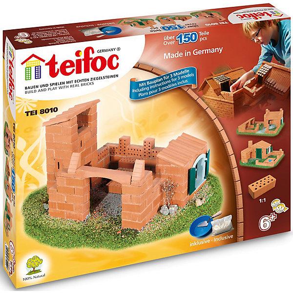 Конструктор из кирпичиков Teifoc Дом, 150 деталейКонструкторы из кирпичиков<br>Характеристики товара:<br><br>• количество деталей: 150;<br>• в комплекте: кирпичи, пластиковые элементы, чаша, мастерок, строительная смесь;<br>• возраст: от 6 лет;<br>• материал: глина, пластик;<br>• размер упаковки: 29х5х35 см;<br>• страна бренда: Германия.<br><br>Строительный набор от Teifoc позволит ребенку побыть в роли настоящего строителя, строящего дом. Конструктор состоит из 150 деталей. В набор входят необходимые пластиковые детали, раствор для приготовления строительной смеси, чаша и мастерок. Кирпичики выполнены из обожженной глины, а строительная смесь - из крахмала и речного песка, что делает набор безопасным для ребенка. <br><br>Подробная инструкция подскажет, как правильно построить сооружения. Чтобы разобрать конструктор, достаточно поместить строение в воду на несколько часов. После растворения цемента дом можно построить заново. Игра с конструктором поможет развить пространственное мышление, мелкую моторику, воображение, внимательность и усидчивость.<br><br>Строительный набор Дом 150 дет., Teifoc (Тейфок) можно купить в нашем интернет-магазине.<br>Ширина мм: 350; Глубина мм: 50; Высота мм: 290; Вес г: 3960; Возраст от месяцев: 72; Возраст до месяцев: 2147483647; Пол: Унисекс; Возраст: Детский; SKU: 7315629;