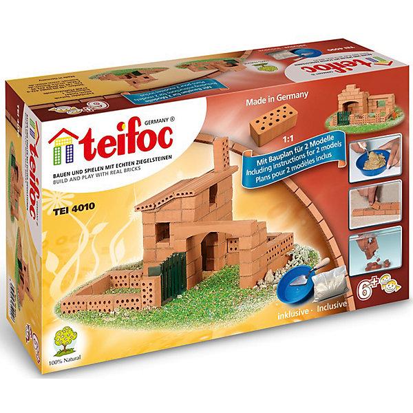 Конструктор из кирпичиков Teifoc Дом, 200 деталейКонструкторы из кирпичиков<br>Характеристики товара:<br><br>• количество деталей: 79;<br>• в комплекте: кирпичи, пластиковые элементы, чаша, мастерок, строительная смесь;<br>• возраст: от 6 лет;<br>• материал: глина, пластик;<br>• размер упаковки: 17х8х29 см;<br>• страна бренда: Германия.<br><br>Набор «Коттедж» от Teifoc состоит из 79 кирпичиков, строительной смеси, мастерка и чаши. С их помощью ребенок сможет проявить навыки строительства и построить небольшой коттедж. Кирпичики из обожженной глины соединяются между собой при помощи строительной смеси из песка и крахмала. Для приготовления смеси предусмотрена отдельная чаша. Чтобы разобрать коттедж, необходимо оставить его в воде на несколько часов. Цемент растворится, и юный строитель сможет продолжить свои эксперименты. Игра с набором хорошо развивает мелкую моторику, пространственное мышление, усидчивость.<br><br>Строительный набор «Коттедж», Teifoc (Тейфок) можно купить в нашем интернет-магазине.<br>Ширина мм: 290; Глубина мм: 80; Высота мм: 170; Вес г: 1360; Возраст от месяцев: 72; Возраст до месяцев: 2147483647; Пол: Унисекс; Возраст: Детский; SKU: 7315632;