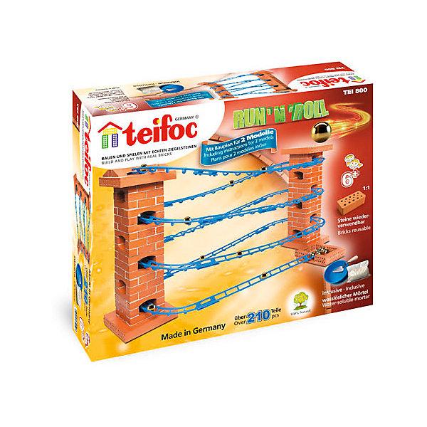 Конструктор из кирпичиков Teifoc Серпантин, 210 деталейКонструкторы из кирпичиков<br>Характеристики товара:<br><br>• количество деталей: 210;<br>• в комплекте: кирпичи, пластиковые элементы, чаша, мастерок, строительная смесь;<br>• возраст: от 6 лет;<br>• длина рельсов: 3,5 м;<br>7 высота рельсов: 56 см;<br>• материал: глина, пластик;<br>• размер упаковки: 35х8х29 см;<br>• страна бренда: Германия.<br><br>При помощи набор «Серпантин» ребенок сможет самостоятельно построить уникальную конструкцию для запуска шариков. Для постройки необходимо соединить кирпичики с помощью строительной смеси и добавить рельсы. Если юному строителю станет скучно играть с конструкцией, он сможет опустить ее в воду по полного растворения цемента, а затем построить новое сооружение. В комплект входят необходимые инструменты: чаша для строительной смеси и мастерок. Строительство из мелких кирпичиков развивает моторику рук, пространственное мышление, воображение, внимательность и усидчивость.<br><br>Строительный набор «Серпантин», Teifoc (Тейфок) можно купить в нашем интернет-магазине.<br><br>Ширина мм: 350<br>Глубина мм: 80<br>Высота мм: 290<br>Вес г: 2400<br>Возраст от месяцев: 72<br>Возраст до месяцев: 2147483647<br>Пол: Унисекс<br>Возраст: Детский<br>SKU: 7315634