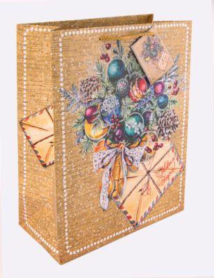 Magic Time Бумажный пакет Еловый букет для сувенирной продукции, с ламинацией