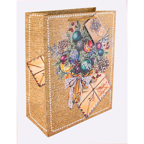 Бумажный пакет Еловый букет для сувенирной продукции, с ламинациейУпаковка новогоднего подарка<br>Характеристики:<br><br>• размер пакета: 32,4х26х12,7 см;<br>• ширина основания: 26 см;<br>• плотность бумаги: 250 г/м2;<br>• масса: 107 г.<br><br>Красивый ламинированный пакет понадобится для упаковки подарков и сувениров. Пакет удобного размера, он может вместить презент среднего размера.<br><br>Тематическая новогодняя иллюстрация на пакете подойдет и для взрослых, и для детей. Две прочные ручки надежно закреплены. Очень плотная бумага хорошо держит форму.<br><br>Подарочный пакет необходим для хорошего оформления подарков друзьям и родным.<br><br>Бумажный пакет «Еловый букет» для сувенирной продукции, с ламинацией, Magic Time можно купить в нашем интернет-магазине.<br><br>Ширина мм: 325<br>Глубина мм: 260<br>Высота мм: 1<br>Вес г: 107<br>Возраст от месяцев: 36<br>Возраст до месяцев: 2147483647<br>Пол: Унисекс<br>Возраст: Детский<br>SKU: 7317201