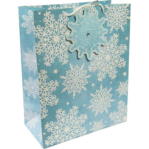Бумажный пакет Сверкающие снежинки для сувенирной продукции, с ламинациейУпаковка новогоднего подарка<br>Характеристики:<br><br>• размер пакета: 32,4х26х12,7 см;<br>• ширина основания: 26 см;<br>• плотность бумаги: 250 г/м2;<br>• масса: 107 г.<br><br>Красивый ламинированный пакет понадобится для упаковки подарков и сувениров. Пакет удобного размера, он может вместить презент среднего размера.<br><br>Тематическая новогодняя иллюстрация на пакете подойдет и для взрослых, и для детей. Две прочные ручки надежно закреплены. Очень плотная бумага хорошо держит форму.<br><br>Подарочный пакет необходим для хорошего оформления подарков друзьям и родным.<br><br>Бумажный пакет «Сверкающие снежинки» для сувенирной продукции, с ламинацией, Magic Time можно купить в нашем интернет-магазине.<br><br>Ширина мм: 325<br>Глубина мм: 260<br>Высота мм: 1<br>Вес г: 107<br>Возраст от месяцев: 36<br>Возраст до месяцев: 2147483647<br>Пол: Унисекс<br>Возраст: Детский<br>SKU: 7317202