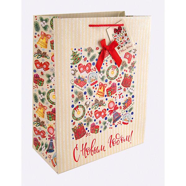 Бумажный пакет Новогодний калейдоскоп для сувенирной продукции, с ламинациейНовогодние пакеты<br>Характеристики:<br><br>• размер пакета: 32,4х26х12,7 см;<br>• ширина основания: 26 см;<br>• плотность бумаги: 250 г/м2;<br>• масса: 107 г.<br><br>Красивый ламинированный пакет понадобится для упаковки подарков и сувениров. Пакет удобного размера, он может вместить презент среднего размера.<br><br>Тематическая новогодняя иллюстрация на пакете подойдет и для взрослых, и для детей. Две прочные ручки надежно закреплены. Очень плотная бумага хорошо держит форму.<br><br>Подарочный пакет необходим для хорошего оформления подарков друзьям и родным.<br><br>Бумажный пакет «Новогодний калейдоскоп» для сувенирной продукции, с ламинацией, Magic Time можно купить в нашем интернет-магазине.<br><br>Ширина мм: 325<br>Глубина мм: 260<br>Высота мм: 1<br>Вес г: 107<br>Возраст от месяцев: 36<br>Возраст до месяцев: 2147483647<br>Пол: Унисекс<br>Возраст: Детский<br>SKU: 7317211