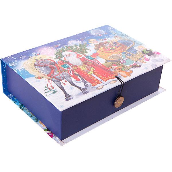 Подарочная коробка ДЕД МОРОЗ С ЕЛКОЙ MНовогодние коробки<br>Характеристики:<br><br>• размер коробки: 20х14х6 см;<br>• плотность картона: 1100 г/м2;<br>• масса: 126 г.<br><br>Красивая подарочная коробка поможет красиво упаковать презент. Небольшая коробочка может вместить небольшой сувенир.<br><br>Тематическая новогодняя иллюстрация на упаковке подойдет и для взрослых, и для детей. Мелованный негофрированный картон хорошо держит форму.<br><br>С помощью подарочных коробочек с цветным декоративным рисунком можно быстро и эффектно оформить подарки друзьям и родным.<br><br>Подарочную коробку «Дед Мороз с елкой M», Magic Time можно купить в нашем интернет-магазине.<br>Ширина мм: 200; Глубина мм: 140; Высота мм: 60; Вес г: 126; Возраст от месяцев: 36; Возраст до месяцев: 2147483647; Пол: Унисекс; Возраст: Детский; SKU: 7317213;