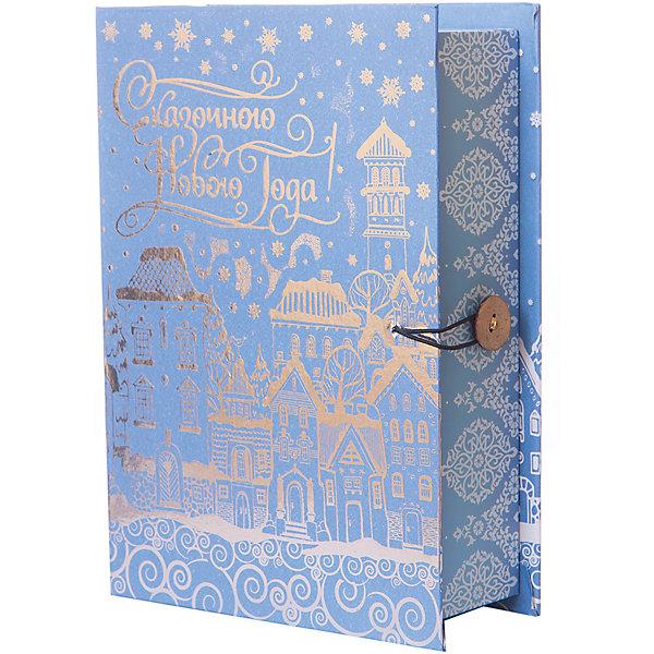 Подарочная коробка Заснеженный город-MНовогодние коробки<br>Характеристики:<br><br>• размер коробки: 20х14х6 см;<br>• плотность картона: 1100 г/м2;<br>• масса: 149 г.<br><br>Красивая подарочная коробка поможет красиво упаковать презент. Небольшая коробочка может вместить небольшой сувенир.<br><br>Тематическая новогодняя иллюстрация на упаковке подойдет и для взрослых, и для детей. Мелованный негофрированный картон хорошо держит форму.<br><br>С помощью подарочных коробочек с цветным декоративным рисунком можно быстро и эффектно оформить подарки друзьям и родным.<br><br>Подарочную коробку «Заснеженный город M», Magic Time можно купить в нашем интернет-магазине.<br>Ширина мм: 200; Глубина мм: 140; Высота мм: 60; Вес г: 149; Возраст от месяцев: 36; Возраст до месяцев: 2147483647; Пол: Унисекс; Возраст: Детский; SKU: 7317222;