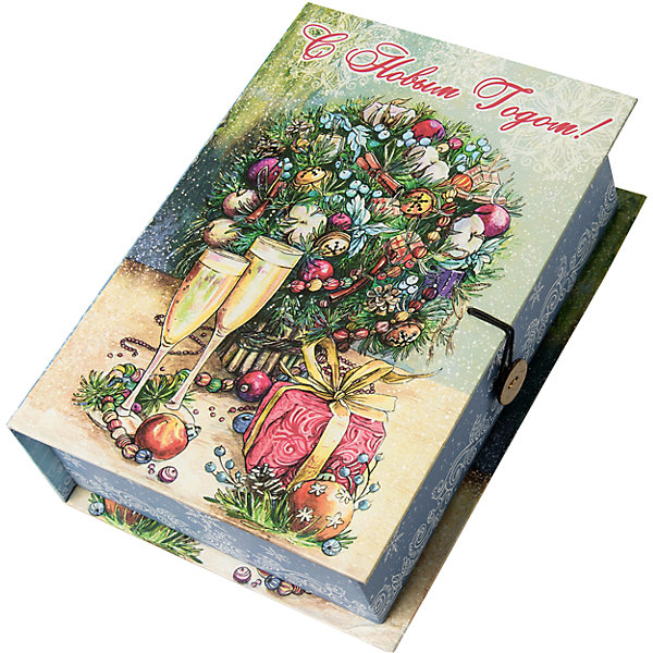 Подарочная коробка Шампанское у елки-MНовогодние коробки<br>Характеристики:<br><br>• размер коробки: 20х14х6 см;<br>• плотность картона: 1100 г/м2;<br>• масса: 149 г.<br><br>Красивая подарочная коробка поможет красиво упаковать презент. Небольшая коробочка может вместить небольшой сувенир.<br><br>Тематическая новогодняя иллюстрация на упаковке подойдет и для взрослых, и для детей. Мелованный негофрированный картон хорошо держит форму.<br><br>С помощью подарочных коробочек с цветным декоративным рисунком можно быстро и эффектно оформить подарки друзьям и родным.<br><br>Подарочную коробку «Шампанское у елки M», Magic Time можно купить в нашем интернет-магазине.<br><br>Ширина мм: 200<br>Глубина мм: 140<br>Высота мм: 60<br>Вес г: 149<br>Возраст от месяцев: 36<br>Возраст до месяцев: 2147483647<br>Пол: Унисекс<br>Возраст: Детский<br>SKU: 7317225