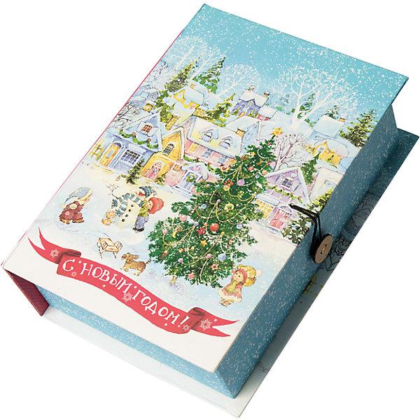 Подарочная коробка Новогодняя площадь-MНовогодние коробки<br>Характеристики:<br><br>• размер коробки: 20х14х6 см;<br>• плотность картона: 1100 г/м2;<br>• масса: 149 г.<br><br>Красивая подарочная коробка поможет красиво упаковать презент. Небольшая коробочка может вместить небольшой сувенир.<br><br>Тематическая новогодняя иллюстрация на упаковке подойдет и для взрослых, и для детей. Мелованный негофрированный картон хорошо держит форму.<br><br>С помощью подарочных коробочек с цветным декоративным рисунком можно быстро и эффектно оформить подарки друзьям и родным.<br><br>Подарочную коробку «Новогодняя площадь M», Magic Time можно купить в нашем интернет-магазине.<br>Ширина мм: 200; Глубина мм: 140; Высота мм: 60; Вес г: 149; Возраст от месяцев: 36; Возраст до месяцев: 2147483647; Пол: Унисекс; Возраст: Детский; SKU: 7317228;