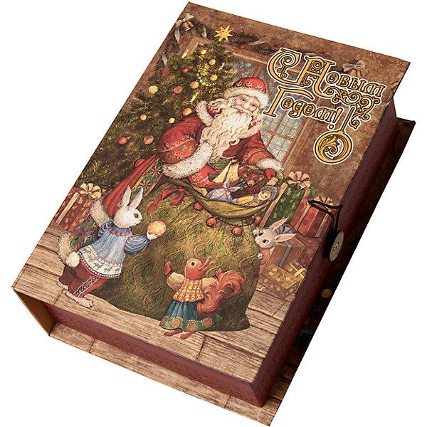 Подарочная коробка Мешок с подарками-MУпаковка новогоднего подарка<br>Характеристики:<br><br>• размер коробки: 20х14х6 см;<br>• плотность картона: 1100 г/м2;<br>• масса: 149 г.<br><br>Красивая подарочная коробка поможет красиво упаковать презент. Небольшая коробочка может вместить небольшой сувенир.<br><br>Тематическая новогодняя иллюстрация на упаковке подойдет и для взрослых, и для детей. Мелованный негофрированный картон хорошо держит форму.<br><br>С помощью подарочных коробочек с цветным декоративным рисунком можно быстро и эффектно оформить подарки друзьям и родным.<br><br>Подарочную коробку «Мешок с подарками M», Magic Time можно купить в нашем интернет-магазине.<br><br>Ширина мм: 200<br>Глубина мм: 140<br>Высота мм: 60<br>Вес г: 149<br>Возраст от месяцев: 36<br>Возраст до месяцев: 2147483647<br>Пол: Унисекс<br>Возраст: Детский<br>SKU: 7317232