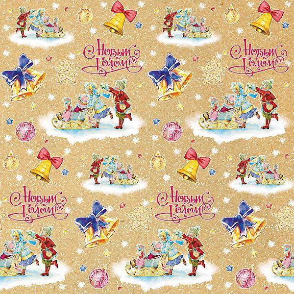 Крафт бумага Малыши на санках для сувенирной продукцииУпаковка новогоднего подарка<br>Характеристики:<br><br>• размер листа: 100х70 см;<br>• плотность бумаги: 80 г/м2;<br>• масса: 60 г.<br><br>Красочная упаковочная бумага поможет красиво оформить подарок для взрослого или ребенка. Тематический новогодний принт гармонично подойдет для праздничного сюрприза.<br><br>Большие листы немелованной бумаги оформлены полноцветным декоративным рисунком. Каждый лист аккуратно свернут в рулончик, поэтому не имеет сгибов и заломов.<br><br>Одного листа будет достаточно для упаковки подарка среднего размера, для большего объема необходимо приобрести несколько листов одной расцветки или скомбинировать несколько видов одной цветовой гаммы.<br><br>Крафт бумагу «Малыши на санках» для сувенирной продукции, Magic Time можно купить в нашем интернет-магазине.<br>Ширина мм: 700; Глубина мм: 30; Высота мм: 30; Вес г: 60; Возраст от месяцев: 36; Возраст до месяцев: 2147483647; Пол: Унисекс; Возраст: Детский; SKU: 7317237;