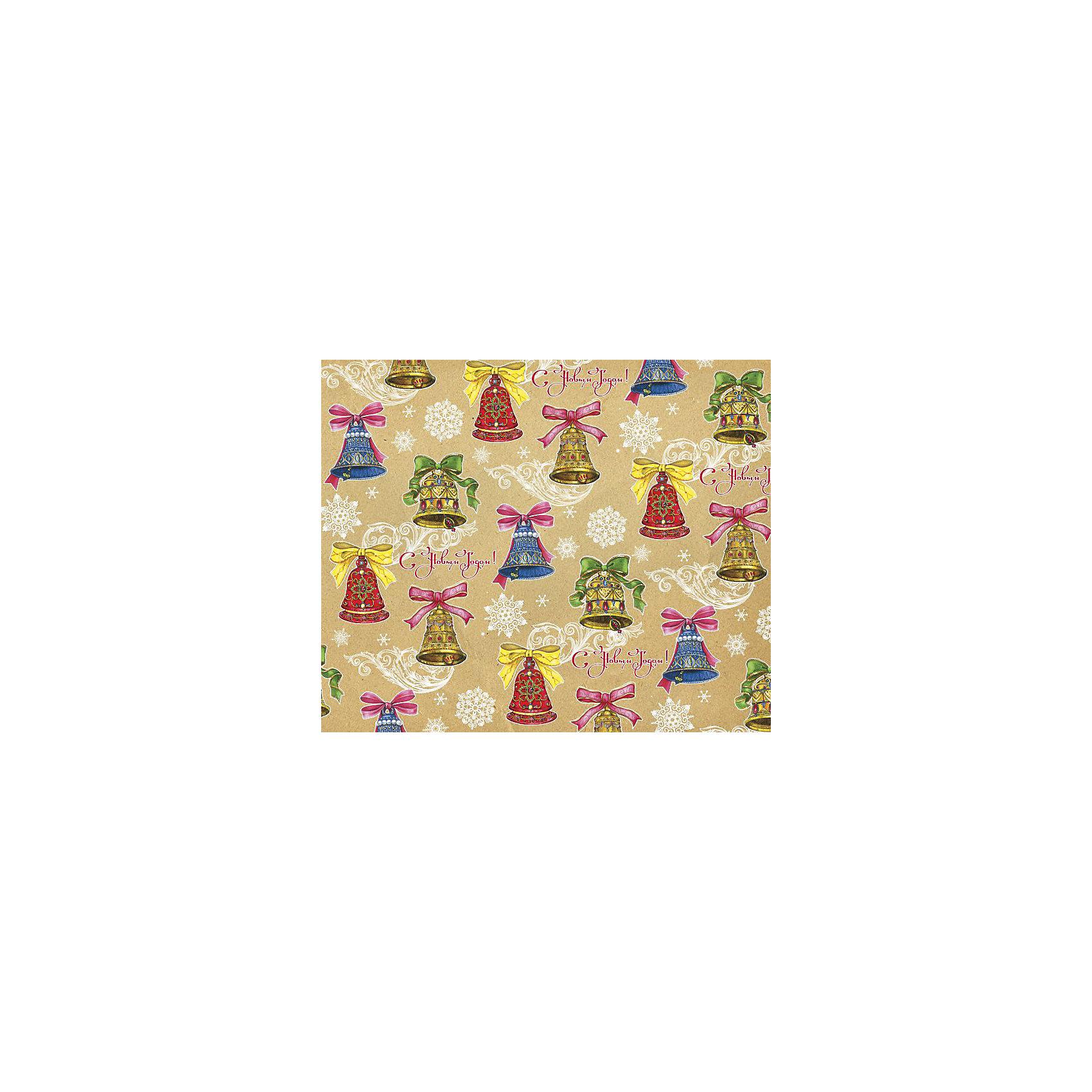 Крафт бумага Колокольчики с бантами для сувенирной продукции от myToys