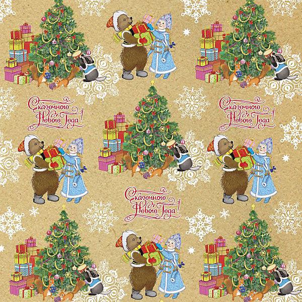 Крафт бумага Снегурочка с мишкой для сувенирной продукции в листахУпаковка новогоднего подарка<br>Характеристики:<br><br>• размер листа: 100х70 см;<br>• плотность бумаги: 80 г/м2;<br>• масса: 60 г.<br><br>Красочная упаковочная бумага поможет красиво оформить подарок для взрослого или ребенка. Тематический новогодний принт гармонично подойдет для праздничного сюрприза.<br><br>Большие листы немелованной бумаги оформлены полноцветным декоративным рисунком. Каждый лист аккуратно свернут в рулончик, поэтому не имеет сгибов и заломов.<br><br>Одного листа будет достаточно для упаковки подарка среднего размера, для большего объема необходимо приобрести несколько листов одной расцветки или скомбинировать несколько видов одной цветовой гаммы.<br><br>Крафт бумагу «Снегурочка с мишкой» для сувенирной продукции, Magic Time можно купить в нашем интернет-магазине.<br>Ширина мм: 700; Глубина мм: 30; Высота мм: 30; Вес г: 60; Возраст от месяцев: 36; Возраст до месяцев: 2147483647; Пол: Унисекс; Возраст: Детский; SKU: 7317239;