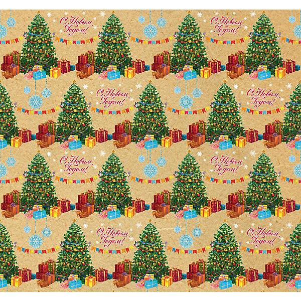 Крафт бумага Нарядные елочки для сувенирной продукции в листахНовогодняя упаковочная бумага<br>Характеристики:<br><br>• размер листа: 100х70 см;<br>• плотность бумаги: 80 г/м2;<br>• масса: 60 г.<br><br>Красочная упаковочная бумага поможет красиво оформить подарок для взрослого или ребенка. Тематический новогодний принт гармонично подойдет для праздничного сюрприза.<br><br>Большие листы немелованной бумаги оформлены полноцветным декоративным рисунком. Каждый лист аккуратно свернут в рулончик, поэтому не имеет сгибов и заломов.<br><br>Одного листа будет достаточно для упаковки подарка среднего размера, для большего объема необходимо приобрести несколько листов одной расцветки или скомбинировать несколько видов одной цветовой гаммы.<br><br>Крафт бумагу «Нярядные елочки» для сувенирной продукции, Magic Time можно купить в нашем интернет-магазине.<br>Ширина мм: 700; Глубина мм: 30; Высота мм: 30; Вес г: 60; Возраст от месяцев: 36; Возраст до месяцев: 2147483647; Пол: Унисекс; Возраст: Детский; SKU: 7317240;