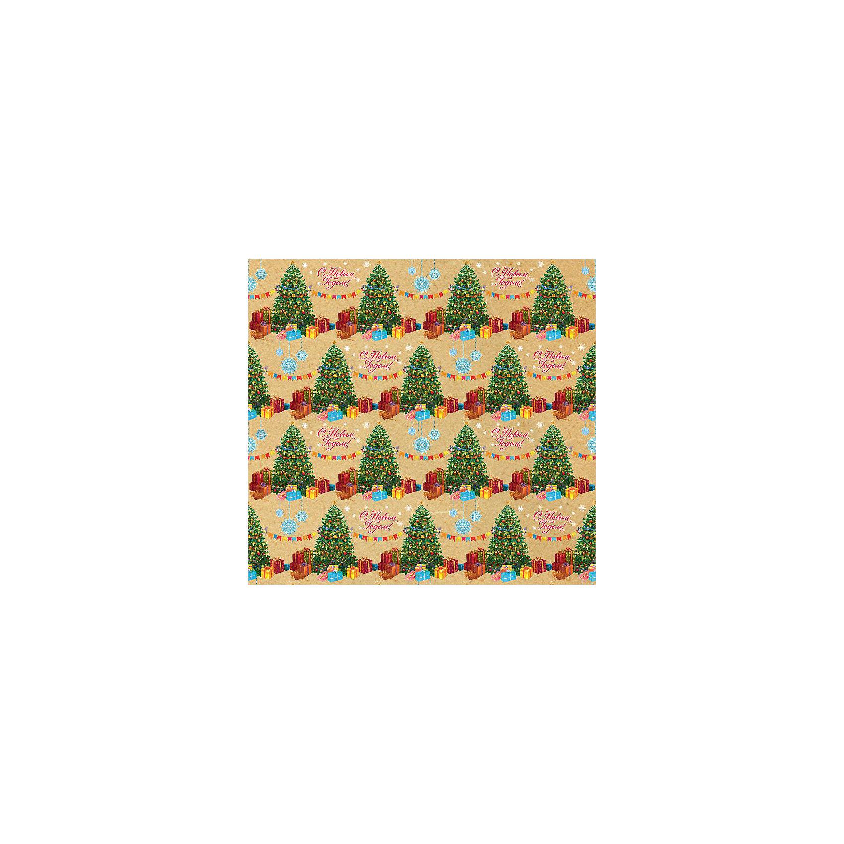 Крафт бумага Нарядные елочки для сувенирной продукции в листах от myToys