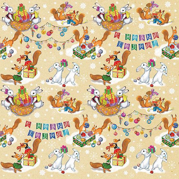 Крафт бумага Зайчики и белочки для сувенирной продукции в листахУпаковка новогоднего подарка<br>Характеристики:<br><br>• размер листа: 100х70 см;<br>• плотность бумаги: 80 г/м2;<br>• масса: 60 г.<br><br>Красочная упаковочная бумага поможет красиво оформить подарок для взрослого или ребенка. Тематический новогодний принт гармонично подойдет для праздничного сюрприза.<br><br>Большие листы немелованной бумаги оформлены полноцветным декоративным рисунком. Каждый лист аккуратно свернут в рулончик, поэтому не имеет сгибов и заломов.<br><br>Одного листа будет достаточно для упаковки подарка среднего размера, для большего объема необходимо приобрести несколько листов одной расцветки или скомбинировать несколько видов одной цветовой гаммы.<br><br>Крафт бумагу «Зайчики и белочки» для сувенирной продукции, Magic Time можно купить в нашем интернет-магазине.<br><br>Ширина мм: 700<br>Глубина мм: 30<br>Высота мм: 30<br>Вес г: 60<br>Возраст от месяцев: 36<br>Возраст до месяцев: 2147483647<br>Пол: Унисекс<br>Возраст: Детский<br>SKU: 7317245