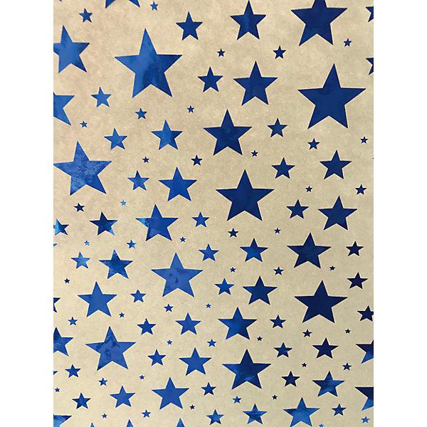 Крафт бумага Синие звезды для сувенирной продукции в листахНовогодняя упаковочная бумага<br>Характеристики:<br><br>• размер листа: 100х70 см;<br>• плотность бумаги: 60 г/м2;<br>• масса: 49 г.<br><br>Красочная упаковочная бумага поможет красиво оформить подарок для взрослого или ребенка. Тематический новогодний принт гармонично подойдет для праздничного сюрприза.<br><br>Большие листы немелованной бумаги оформлены полноцветным декоративным рисунком. Каждый лист аккуратно свернут в рулончик, поэтому не имеет сгибов и заломов.<br><br>Одного листа будет достаточно для упаковки подарка среднего размера, для большего объема необходимо приобрести несколько листов одной расцветки или скомбинировать несколько видов одной цветовой гаммы.<br><br>Крафт бумага «Синие звездочки» для сувенирной продукции, Magic Time можно купить в нашем интернет-магазине.<br><br>Ширина мм: 700<br>Глубина мм: 30<br>Высота мм: 30<br>Вес г: 49<br>Возраст от месяцев: 36<br>Возраст до месяцев: 2147483647<br>Пол: Унисекс<br>Возраст: Детский<br>SKU: 7317248