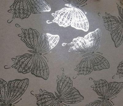 Magic Time Крафт Бумага Золотые Бабочки Для Сувенирной Продукции В Листах