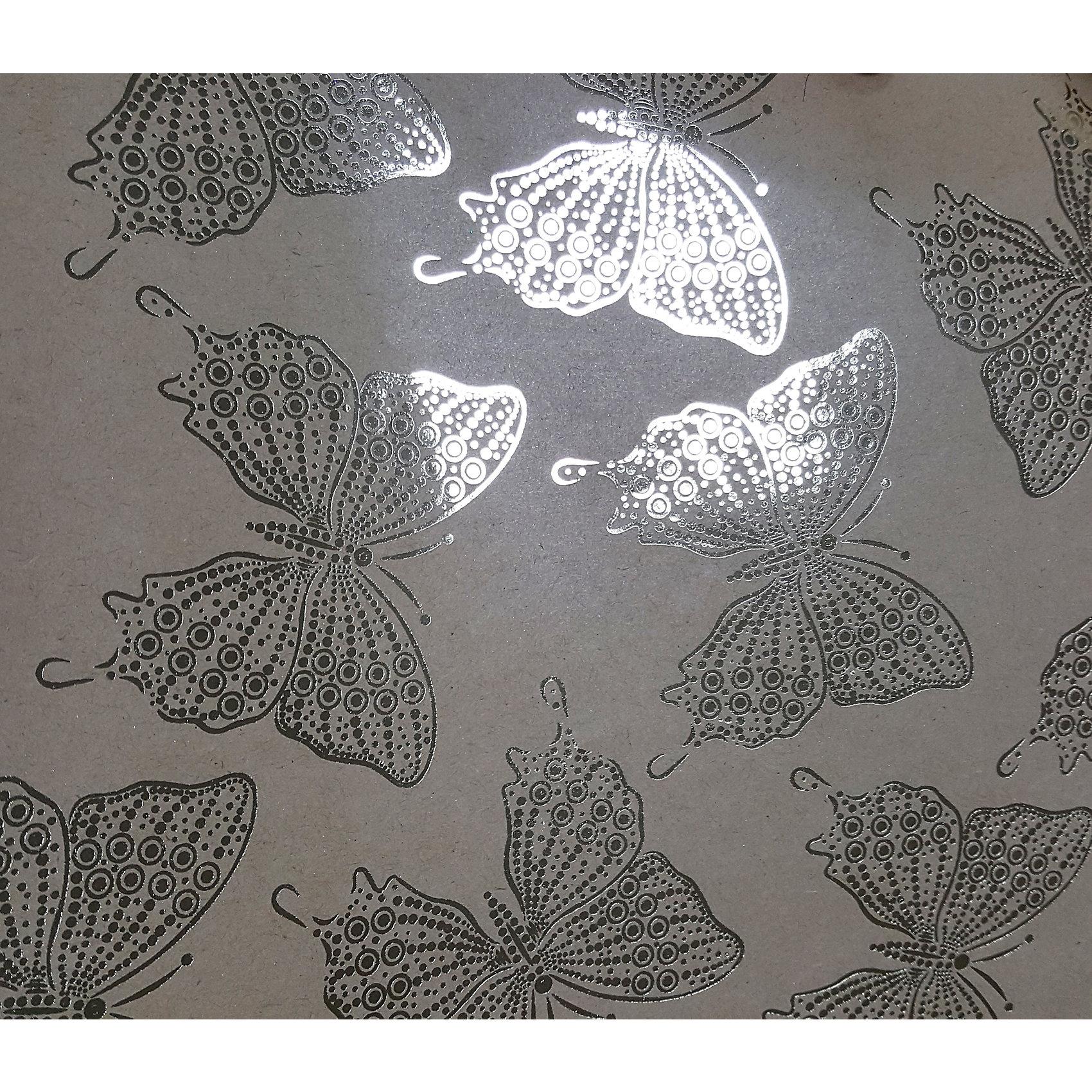 Крафт бумага Золотые бабочки для сувенирной продукции в листах от myToys