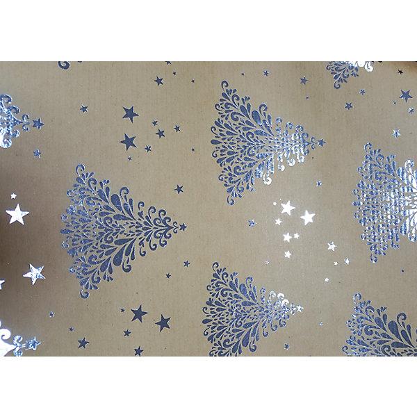 Крафт бумага Серебряные елочки для сувенирной продукции в листахНовогодняя упаковочная бумага<br>Характеристики:<br><br>• размер листа: 100х70 см;<br>• плотность бумаги: 60 г/м2;<br>• масса: 49 г.<br><br>Красочная упаковочная бумага поможет красиво оформить подарок для взрослого или ребенка. Тематический новогодний принт гармонично подойдет для праздничного сюрприза.<br><br>Большие листы немелованной бумаги оформлены полноцветным декоративным рисунком. Каждый лист аккуратно свернут в рулончик, поэтому не имеет сгибов и заломов.<br><br>Одного листа будет достаточно для упаковки подарка среднего размера, для большего объема необходимо приобрести несколько листов одной расцветки или скомбинировать несколько видов одной цветовой гаммы.<br><br>Крафт бумага «Серебряные елочки» для сувенирной продукции, Magic Time можно купить в нашем интернет-магазине.<br><br>Ширина мм: 700<br>Глубина мм: 30<br>Высота мм: 30<br>Вес г: 49<br>Возраст от месяцев: 36<br>Возраст до месяцев: 2147483647<br>Пол: Унисекс<br>Возраст: Детский<br>SKU: 7317253