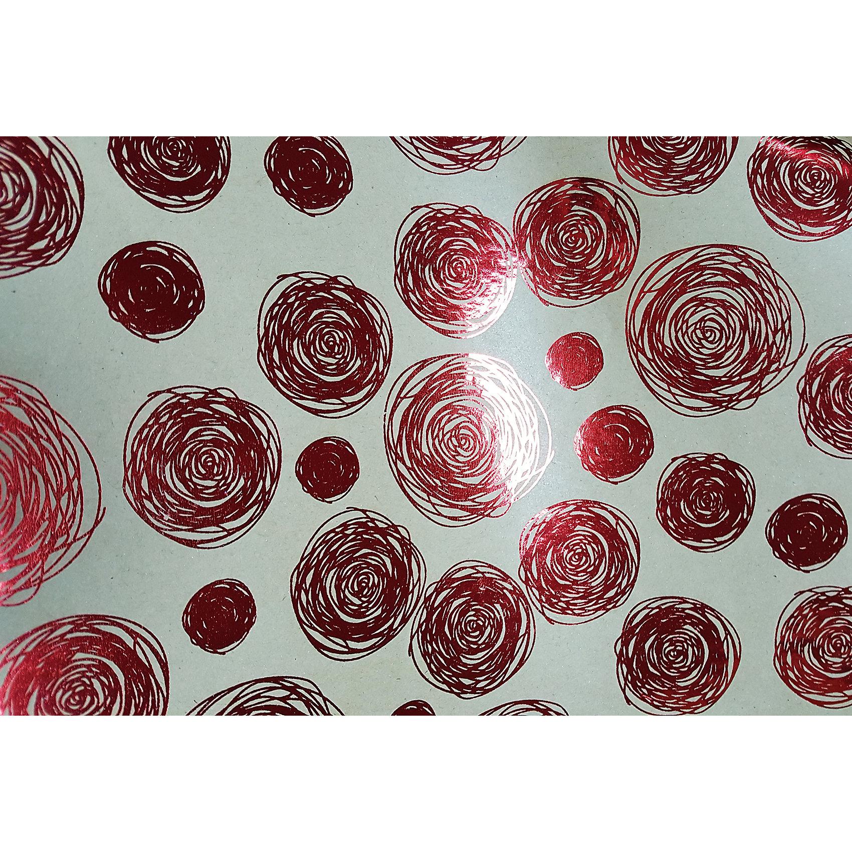 Крафт бумага Красные водовороты для сувенирной продукции в листах от myToys
